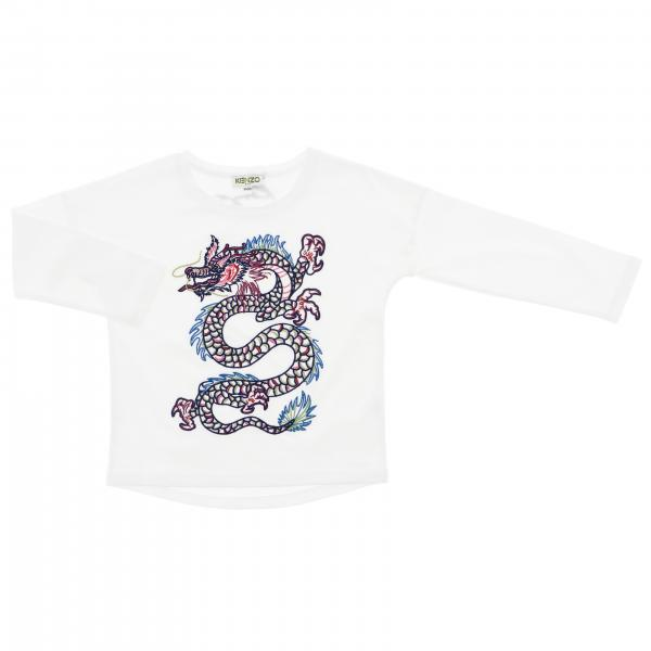 T-shirt Kenzo Junior a maniche lunghe con maxi logo Kenzo dragone