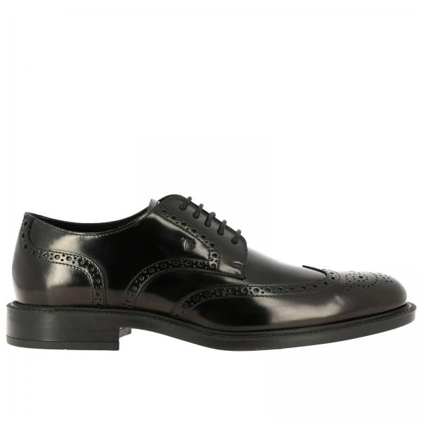Zapatos derby Tod's de cuero con estampado brogue