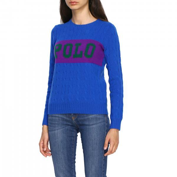 Logo Ralph Lauren Donna BlueA Con 211770921 Girocollo Maglia htsdCBoxQr