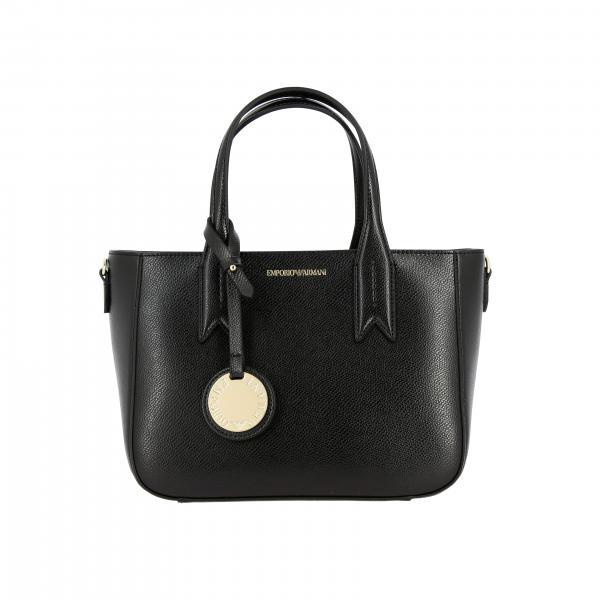 Borsa Emporio Armani shopping bag in pelle sintetica con logo