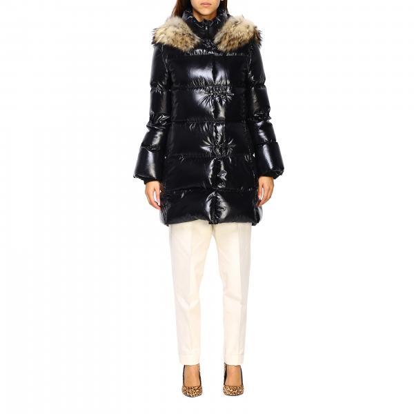 Piumino Fay con alamari e cappuccio con bordi di pelliccia