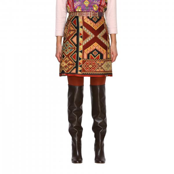 Юбка Etro с этнической вышивкой