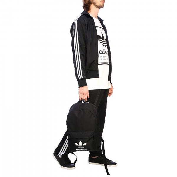 Uomo Williams Zaino Stampa In Ed8667 NeroBy Tela Adidas Pharrell Con Originals 8wPnOk0