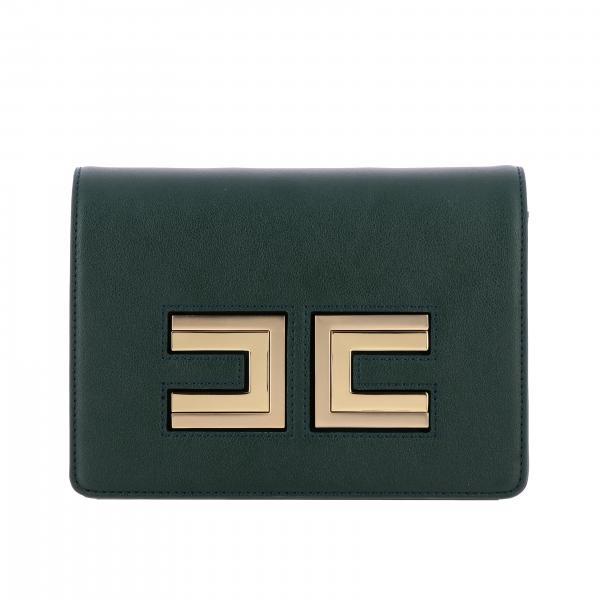 Borsa mini a tracolla Elisabetta Franchi in pelle ecologica con logo