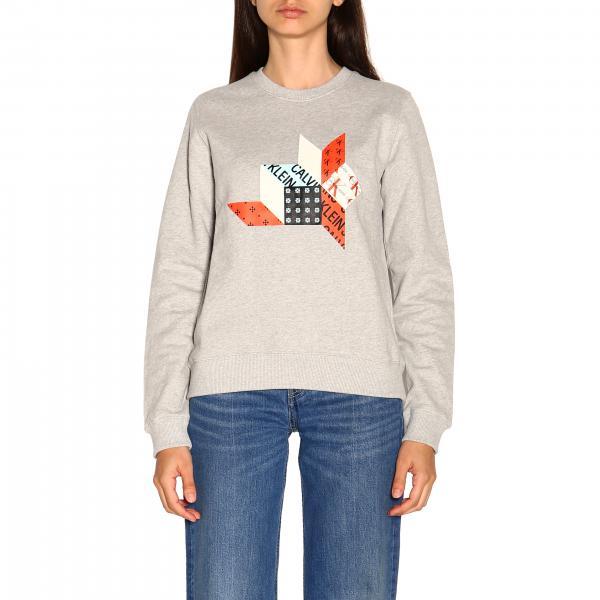 Felpa Calvin Klein Jeans a girocollo con logo