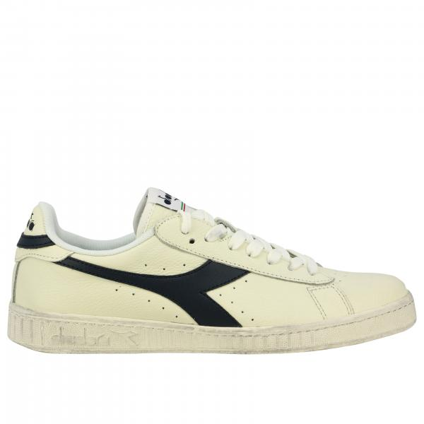 Sneakers Game l low waxed Diadora in pelle