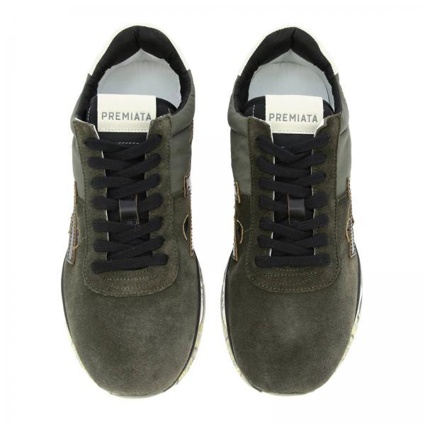 Uomo MoroMattew In Camoscio Logo E Sneakers Nylon Maxi Premiata Con PXiTkOZu