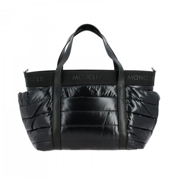 Borsa Mommy bag Moncler in nylon imbottito con logo