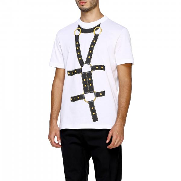 shirt Uomo Fibbie BiancoA Maniche Corte A84155 T Versace A228806 Maxi Stampa By Con IvYb7yf6g