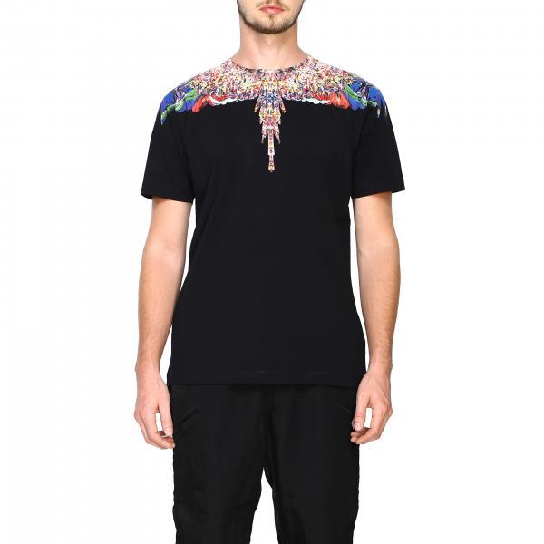 T-shirt a maniche corte con stampa piume