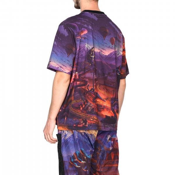 T Stampa Marcelo Burlon Con Cmaa054f19b49012 shirt FantasiaA Maniche Corte Uomo l3uTF1JcK