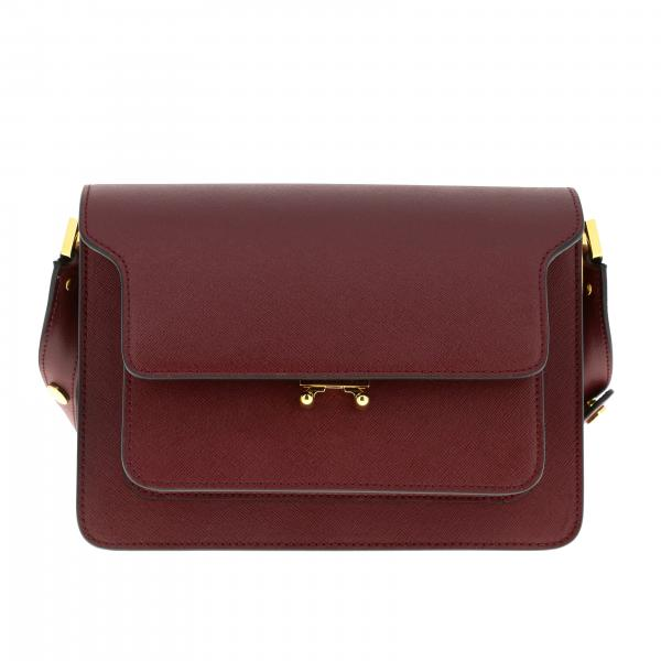 Marni Trunk bag in saffiano leather with shoulder strap