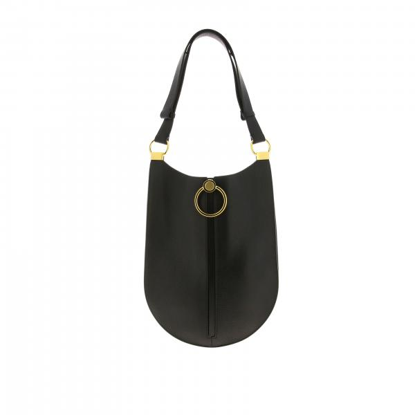 Marni bag in hammered leather with maxi metal ring