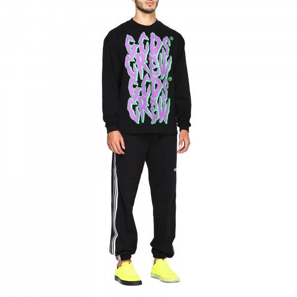 Lunghe Stampa T Maniche NeroMaglia shirt Maxi Uomo A Con Fw20m020022 Gcds odxBrCe