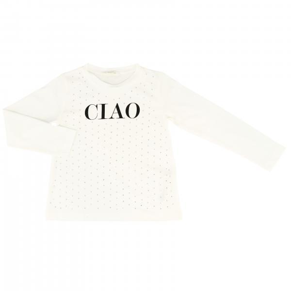 T-shirt Liu Jo a maniche lunghe con logo Ciao
