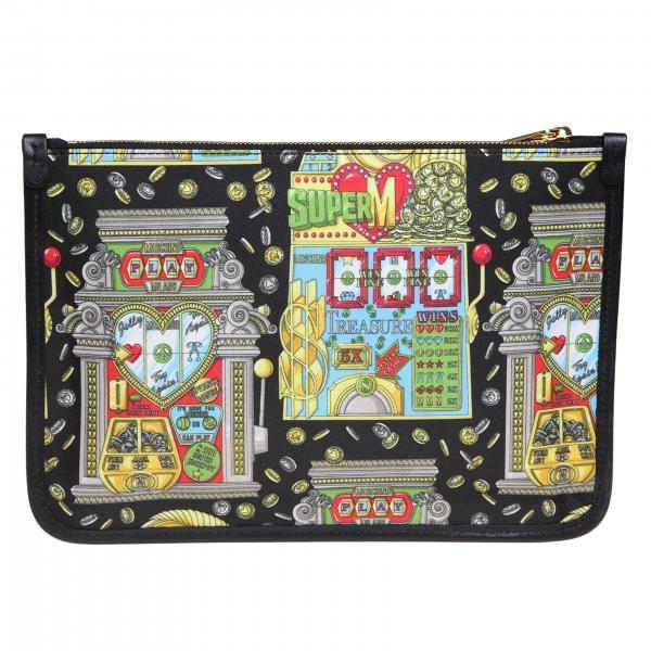 Mini Moschino All Over 8441 Couture Borsa Logo Fantasia Donna NeroPochette 8219 A Con Maxi hQrxsdtC