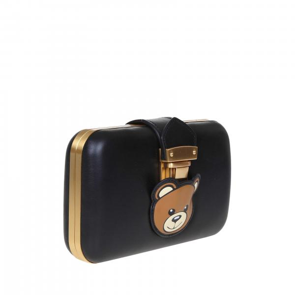Tracolla Vera Mini 8006 In Con Couture Borsa Moschino NeroClutch Maxi 7462 A Pelle Teddy Donna ulFKJ31cT