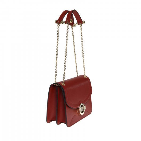 Pelle A 963842h97 Borbonese CiliegiaBorsa Borse In Con Logo Tracolla Donna dtxBhQrCs
