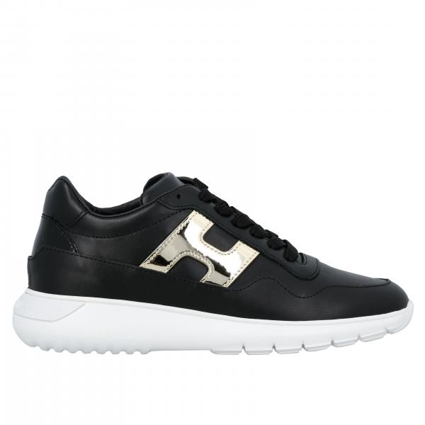 Sneakers Hogan stringata in pelle con H maxi