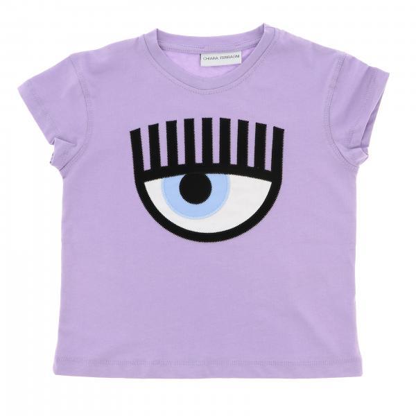 T-shirt Flirting Chiara Ferragni avec maxi broderie Eyes