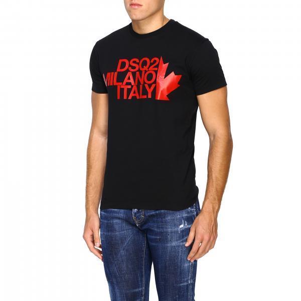 Uomo Corte shirt A Con Maniche Dsquared2In T S71gd0811s20694 Stampa Jersey iXZTlOPkuw
