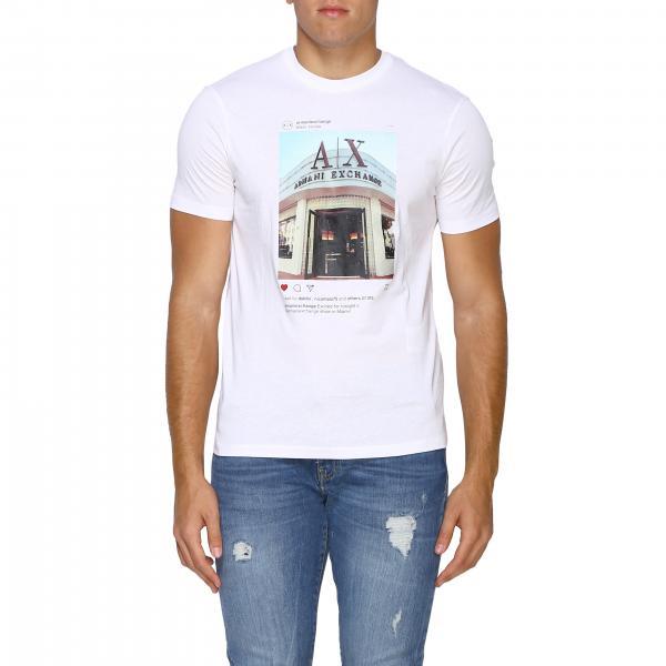 T-shirt Armani Exchange a maniche corte con maxi logo