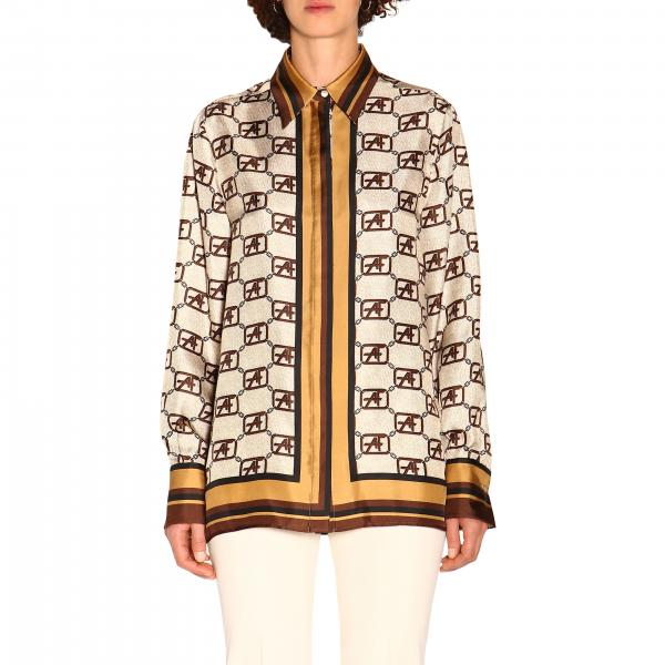 Alberta Ferretti Shirt mit Monogramm all over