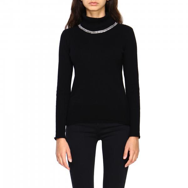 Pinko Olandese Sweatshirt mit Juwelen Halsband