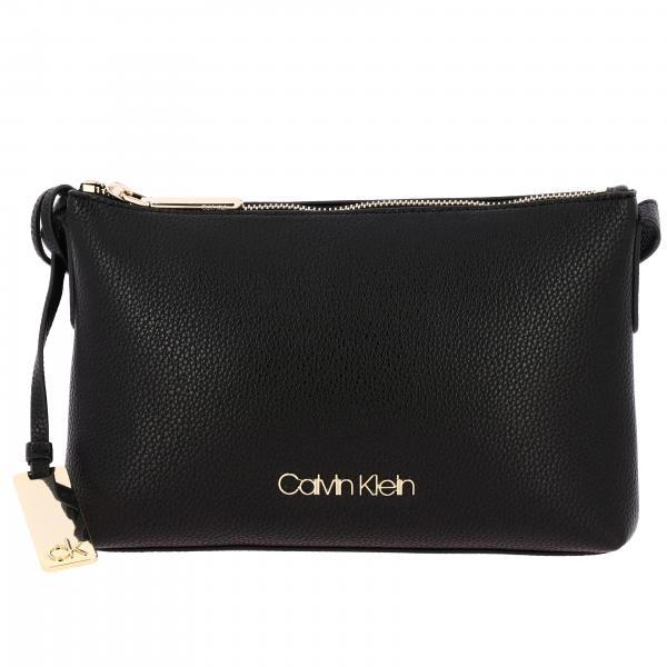 Borsa a spalla Calvin Klein con logo metallico