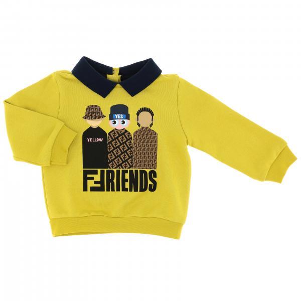 Fendi T-Shirt mit FF Friends Figuren und Kragen