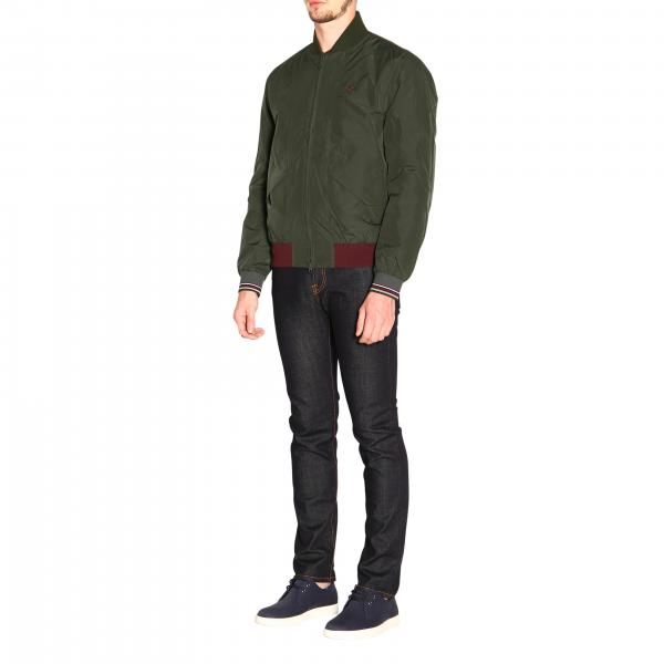Giacca J7510 VerdeQuilted Jacket Perry Fred Uomo Bomber WDEIH9Ye2