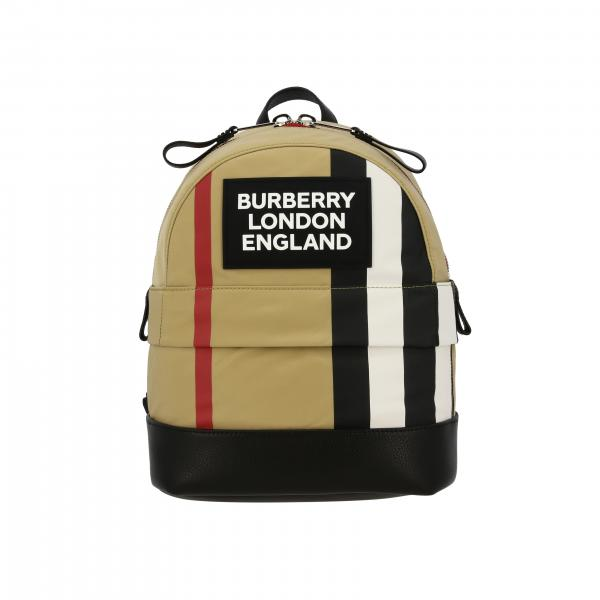 Sac à dos Burberry check avec grand logo