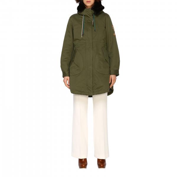 Parka Seline Alessandra Chamonix con cappuccio e bordi di pelliccia