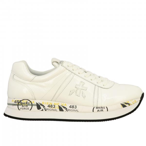 Sneakers Conny Premiata in pelle liscia e lucida
