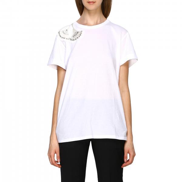 T-shirt Twin-set a maniche corte con applicazioni