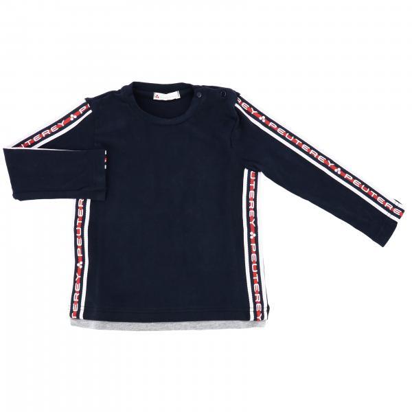 Camiseta Peuterey de manga larga con bandas con logo