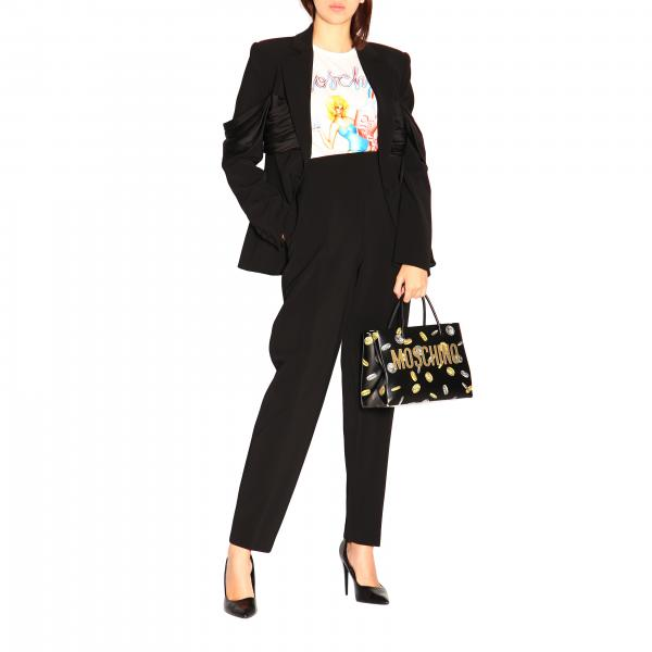 Tracolla Donna Couture Nero7551 A Borse Moschino 8020 PuwTZOkXil