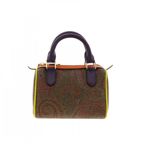 Mini sac bowling Etro en cuir à motifs avec bords contrastés