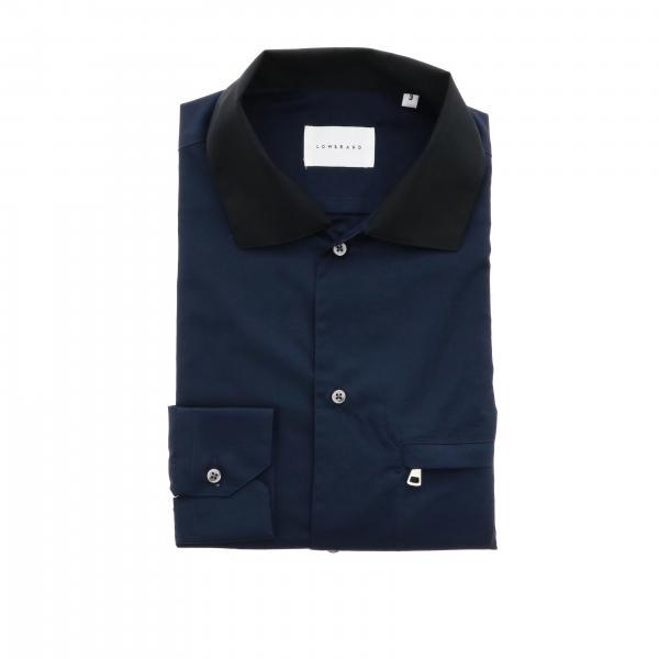 Рубашка Low Brand basic с контрастным воротником