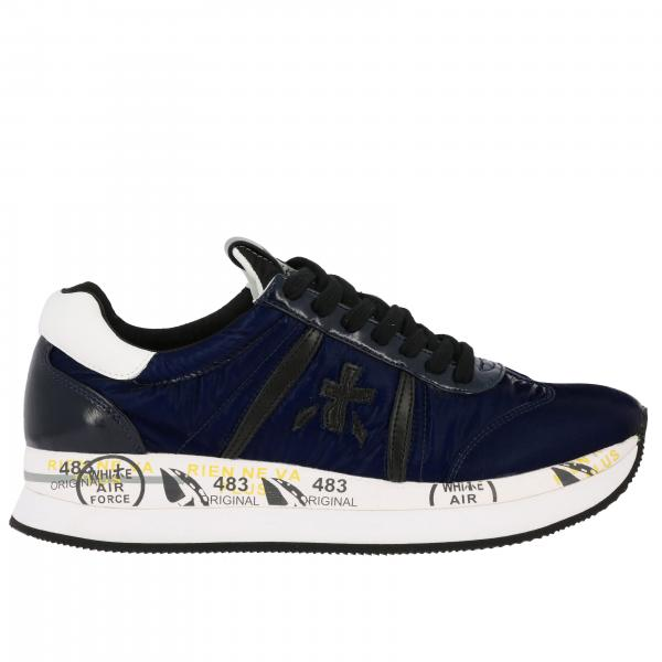 Premiata Conny Sneakers in Samtleder und Nylon