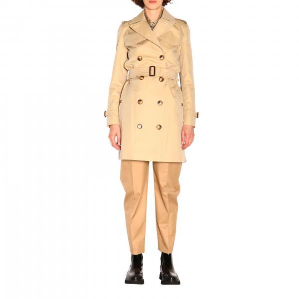 Trench coat Burberry medio in cotone impermeabile con cintura