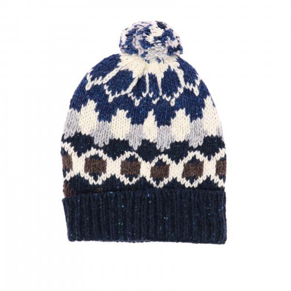 Bonnet Woolrich avec motif et pompon