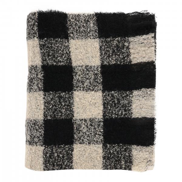 Bufanda Woolrich con macro cuadrados