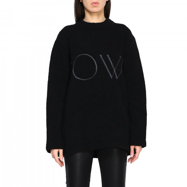 Sweater Off White OWHE020F19F98091