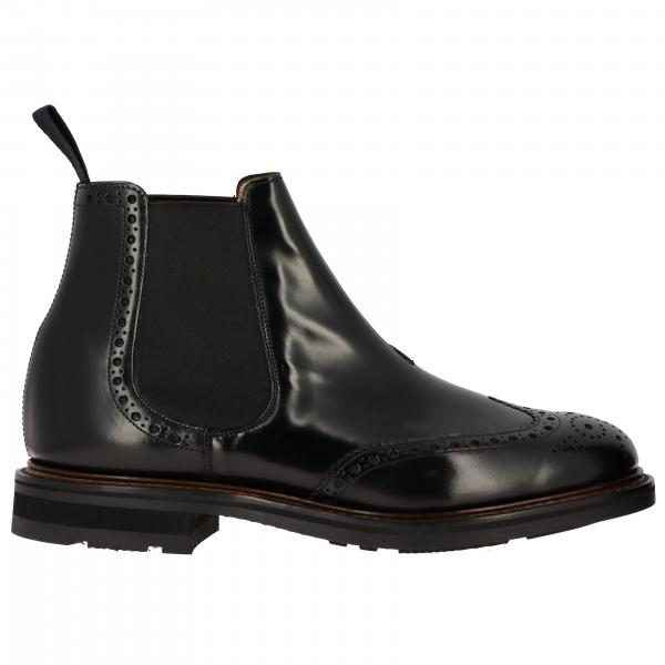 Stivaletto Church's slip on in pelle spazzolata con motivo brogue