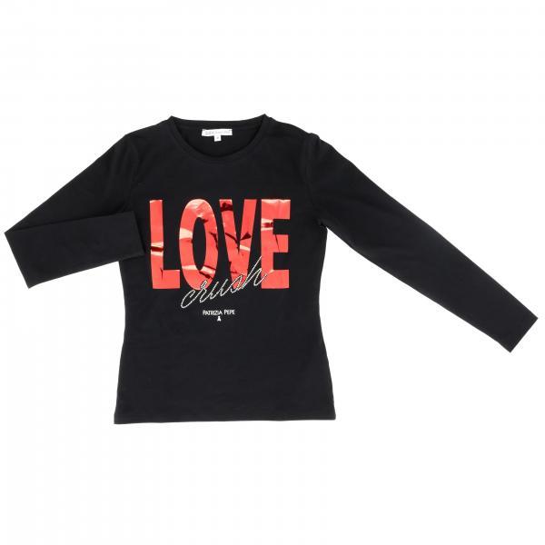 T-shirt Patrizia Pepe a maniche lunghe con scritta