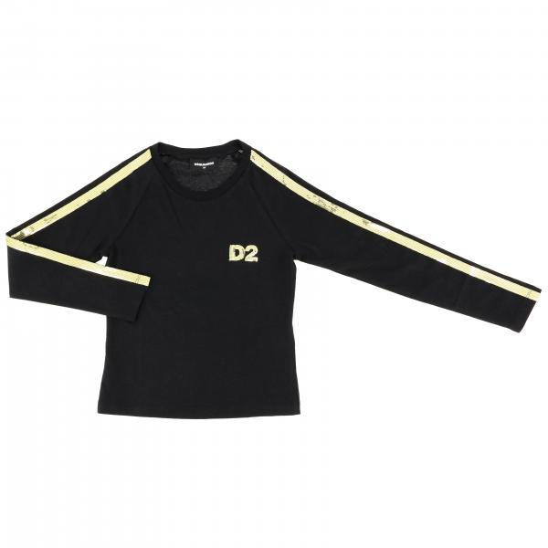 T-shirt Dsquared2 Junior a maniche lunghe con logo