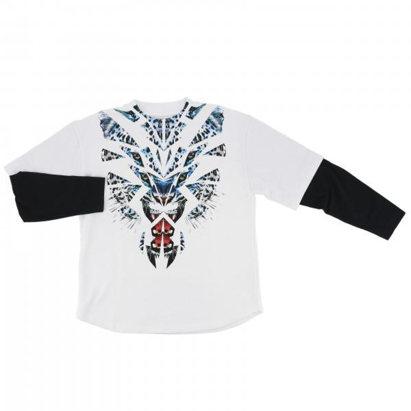 T-shirt a maniche lunghe con maxi stampa