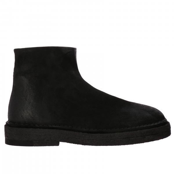 Marsell Parapa ankle boots in suede with rubber sole and zip