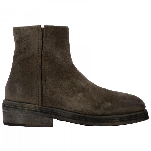 Bottines Zip Marsell Tozzo en daim avec macro zip